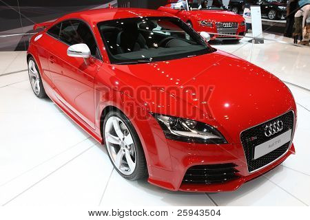 CHICAGO - FEBRUARY 15: The Audi TT presentation at the Annual Chicago Auto Show on February 15, 2011 in Chicago, IL.