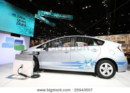 Chicago 15. Februar: die Toyota Prius C Präsentation auf der jährlichen Chicago Auto Show am 1. Februar