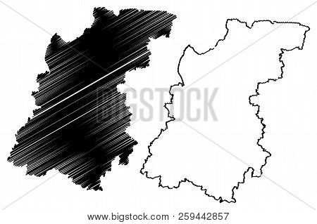 Nizhny Novgorod Oblast (russia, Subjects Of The Russian Federation, Oblasts Of Russia) Map Vector Il