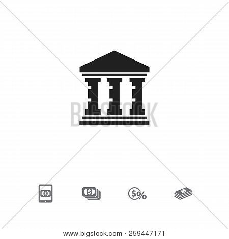 Set Of 5 Editable Investment Icons. Includes Symbols Such As Currency, Mobile Banking, Greenback And