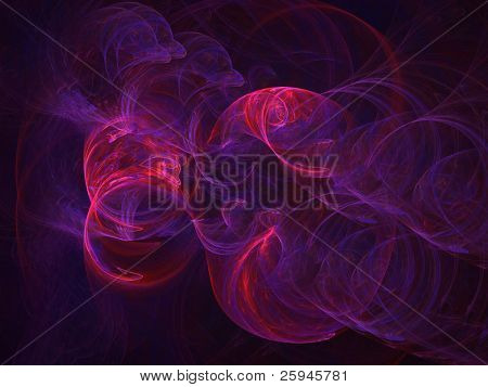 Abstract purple nebula. Fractal illustration.