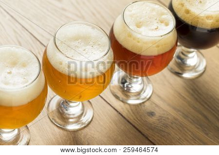 Refreshing Cold Beer Flight