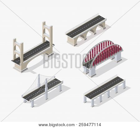 The bridge skyway of urban infrastructure is poster