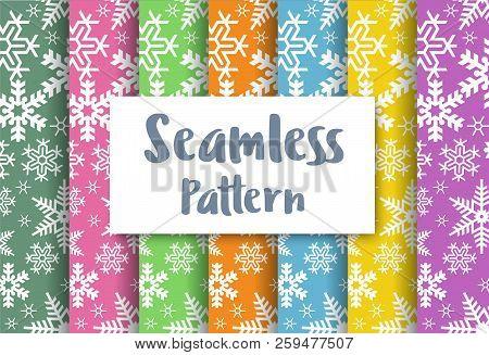 Seamless Christmas Snowflakes Pattern Repeating Tiles Backdrop