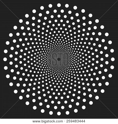 Black And White Abstract Psychedelic Art Background. Vector Illustration