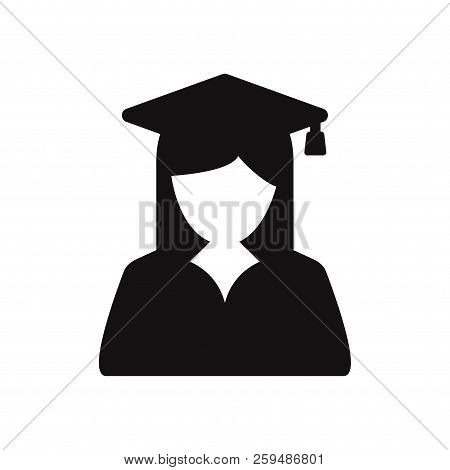 Female Graduate Student Icon Isolated On White Background. Female Graduate Student Icon In Trendy De