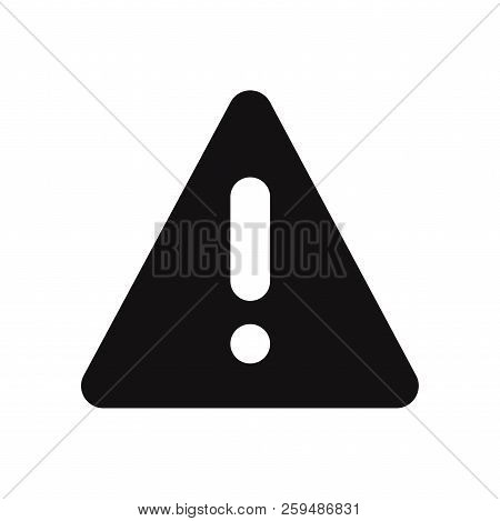 Warning Triangle Icon Isolated On White Background. Warning Triangle Icon In Trendy Design Style. Wa