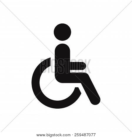 Disabled Icon Isolated On White Background. Disabled Icon In Trendy Design Style. Disabled Vector Ic