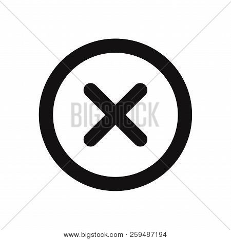 Close Icon Isolated On White Background. Close Icon In Trendy Design Style. Close Vector Icon Modern