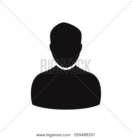 Male User Icon Isolated On White Background. Male User Icon In Trendy Design Style. Male User Vector