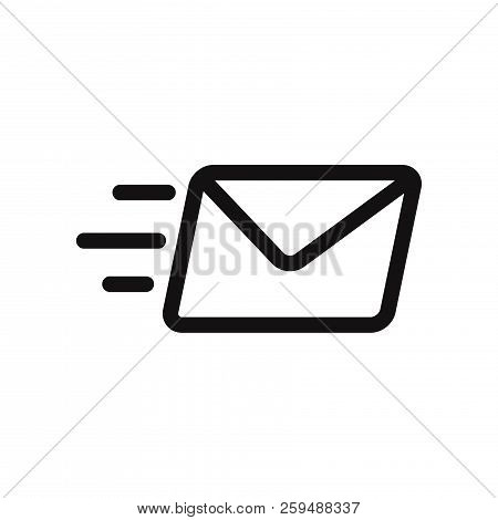 Send Mail Icon Isolated On White Background. Send Mail Icon In Trendy Design Style. Send Mail Vector