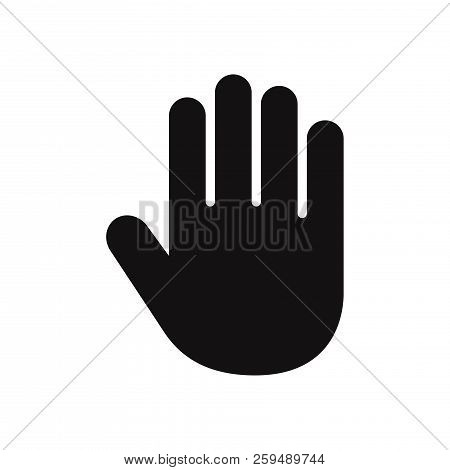 Hand Icon Isolated On White Background. Hand Icon In Trendy Design Style. Hand Vector Icon Modern An