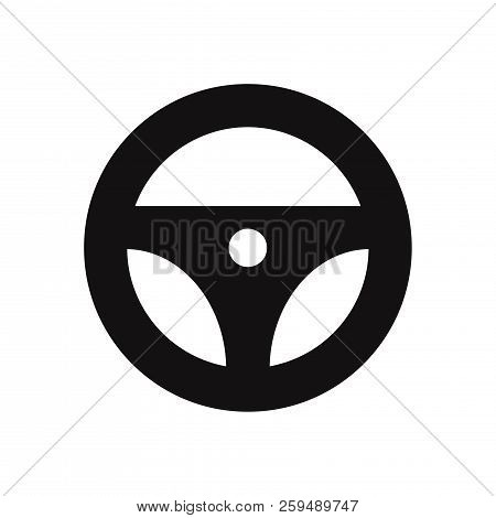 Steering Wheel Icon Isolated On White Background. Steering Wheel Icon In Trendy Design Style. Steeri
