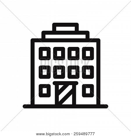 Hotel Icon Isolated On White Background. Hotel Icon In Trendy Design Style. Hotel Vector Icon Modern