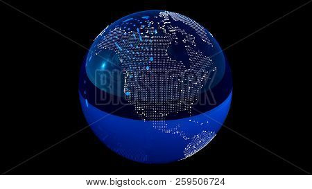 Point And Line Composed World Map, Representing The Global. Global Network Connection. World Map Poi