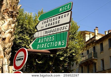 French Road Signs In Provence