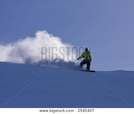 Snowboard With Snow
