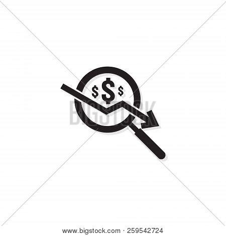 Dollar Arrow Decrease Vector Photo Free Trial Bigstock