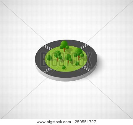 Computer Internet Icon Isometric Landscape Of The