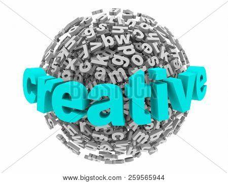 Creative Imagination Project New Ideas Letter Sphere 3d Illustration