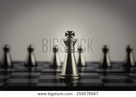 Double Exposure Of Businessman With Chess Board Game Of Business Ideas And Competition Success Play