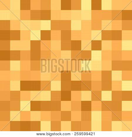 Square Mosaic Background - Vector Graphic Design From Squares In Orange Colored Tones