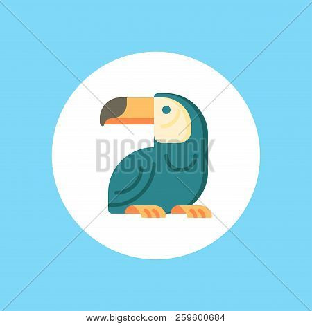 Brazilian Toucan Icon In Outline Design Isolated On White Background. Brazil Country Symbol Stock Ve