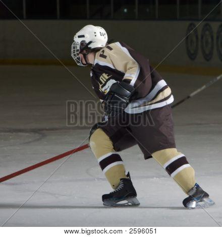 Solo High School Hockey Player