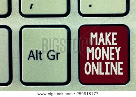 Writing Note Showing Make Money Online. Business Photo Showcasing Ecommerce Trading Selling Over The