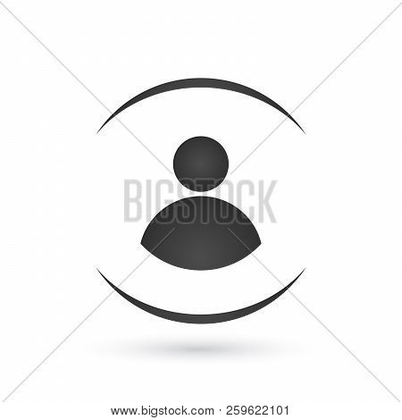 User Login Or Authenticate Icon, Vector. Personal Protection Icon. Internet Privacy Protection Icon.