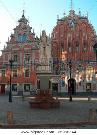 "Riga - capital of Latvia. Old city, ""Blackheads house"" poster"