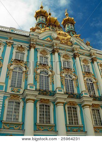 Yekaterinksy Palace at Tsarskoe Syolo (Pushkin) in Russia.