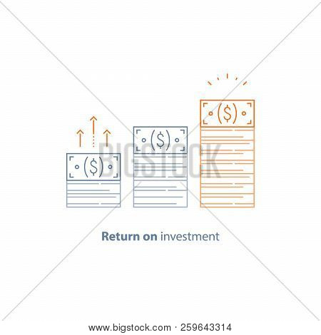 Income Increase, Financial Strategy, High Investment Return, Money Bundle, Fund Raising, Long Term I