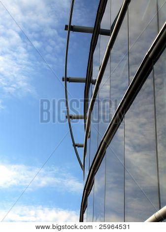 Details of skyscraper and blue sky