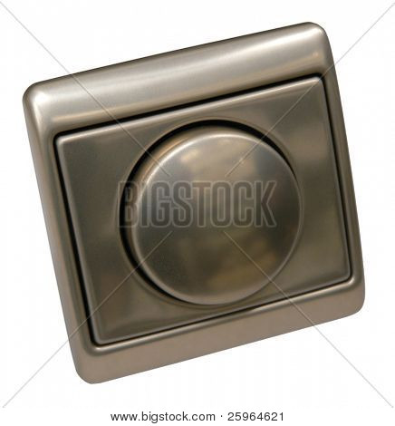 Gold Dimmer Switch on isolated background