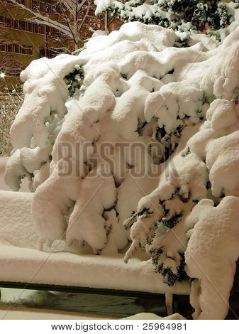 Heavy snow after snowstorm in Lapland - Santas home