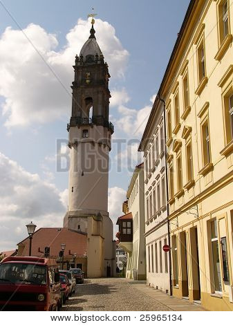 Skew tower of Bautzen, Germany, Europe