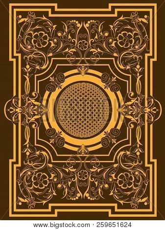 Decorative Vintage Frame Or Border To Be Printed On The Covers Of Books