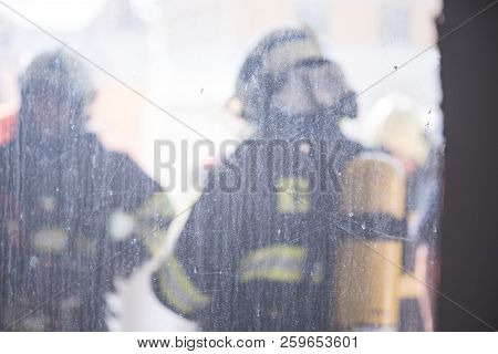 Firefighters Intervening In A Pernicious Disaster Or Fire.