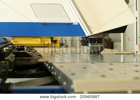 High precision CNC sheet metal stamping and punching machinery.