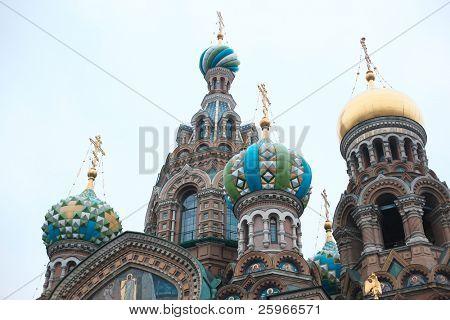 Church of the Savior on Blood - very famous landmark in Saint Petersburg, Russia, Europe