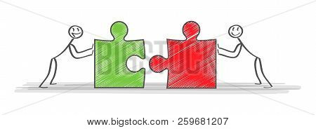 Solutions. Business Team And Partner Working Together Background. Concept Business Business Vector I