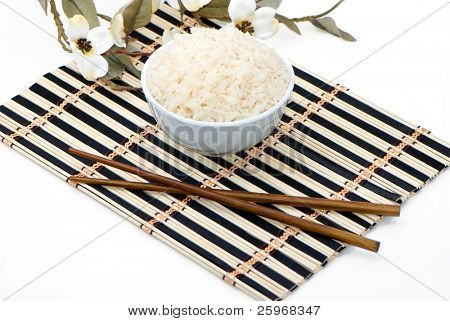 Rice as the Asiatic cuisine symbol