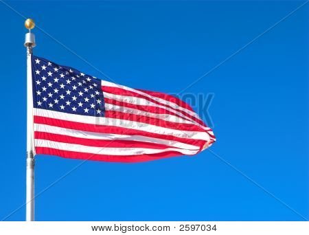 The Waving American Flag