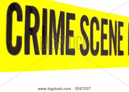 Closeup Of Crime Scene Tape