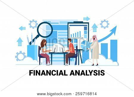 Business People Brainstorming Financial Graphs Analytics Concept Mix Race Men Women Team Working Tra