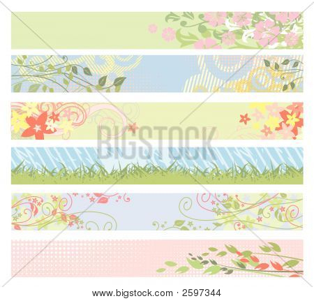 Spring Floral Website Banners