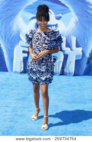 Yara Shahidi at the Los Angeles premiere of 'Smallfoot' held at the Regency Village Theatre in Westwood, USA on September 22, 2018.
