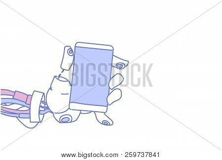 Chat Bot Hand Using Cell Smart Phone Robot Virtual Assistance Service Mobile Applications Artificial