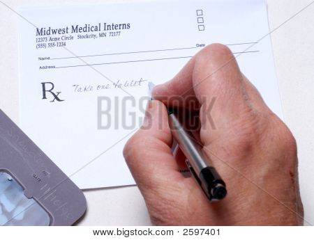 Preparing A Prescription For The Patient